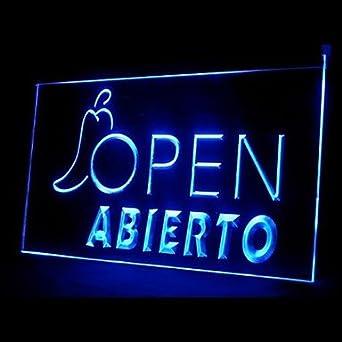 BuW Abierto Open Master Advertising LED Light Sign, led ...