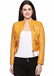Fasnoya Womens Faux Leather Jacket