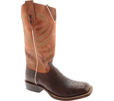 Twisted X Western Boots Mens Fq Ostrich Rancher 10 D