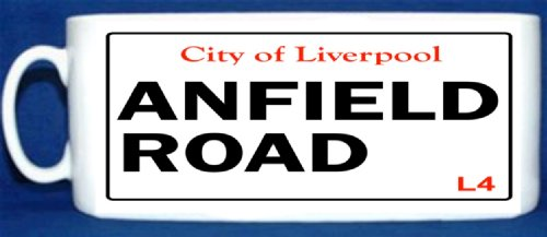 MUG 1542 CITY OF LIVERPOOL ANFIELD ROAD QUAILTY ROUND PHOTO MUG
