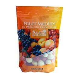 Dilettante Fruit Medley in Premium Chocolate, 7 Oz (Pack of 4)