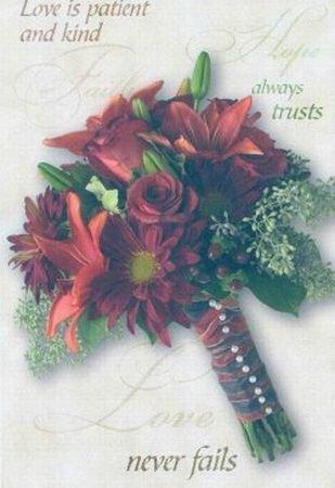 100 Fall Autumn Wedding Programs Bulletins Bouquet -605