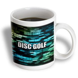 3Drose Mug_173455_1 Disc Golf-Colorful Graphic Design Of Disc Golf Text In Space, Ceramic Mug, 11-Ounce