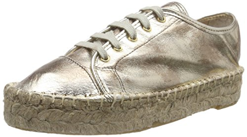 Buffalo London10701-3YU CAMBOYA - Espadrillas Donna , Oro (Gold (NATURAL 01)), 37