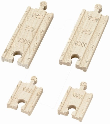 Thomas & Friends Wooden Railway - 2 Inch and 4 Inch Straight Track (4 pieces) - 1
