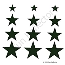 Black Star Bicycle Reflective Reflector Sticker Decal