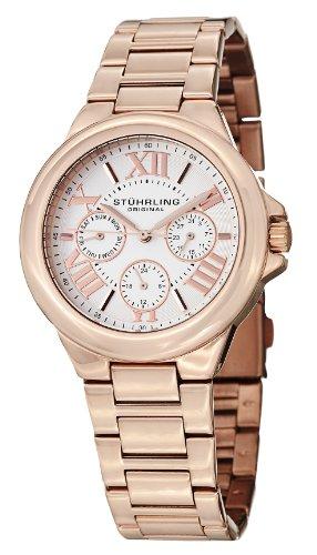 Stuhrling Original Women'S 367.03 Symphony Pontiff Analog Display Quartz Rose Gold Watch