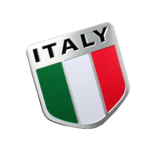 イタリア 国旗 フラッグ アルミ プレート ステッカー イタリア車などに