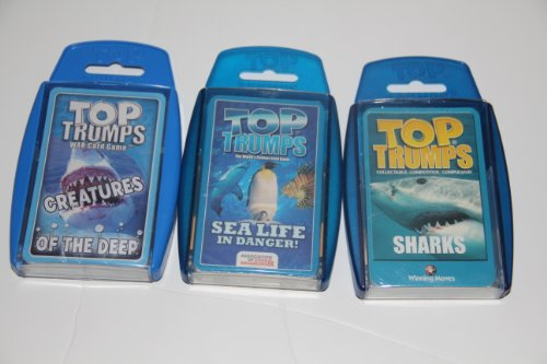 New Top Trumps card game - Sea 3 Pack with Creatures of the Deep, Sealife In Danger and Sharks (Top Trumps Sharks compare prices)