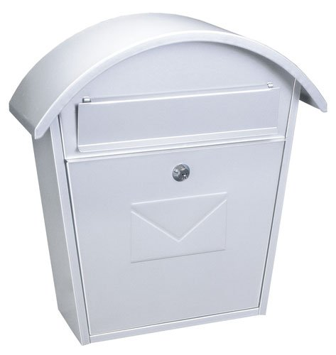 Classic Post Box Letter Box Traditional White Mail Box Large A4