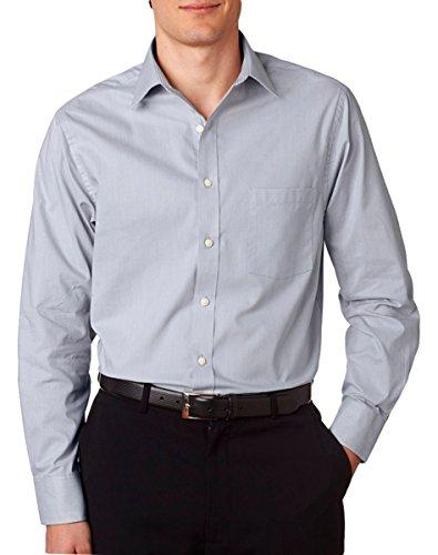 Van-Heusen-Mens-Full-Button-Front-Stripe-Dress-Shirt