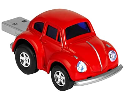VW Beetle Computer USB Memory Stick 2Gb - Red by AutoRegalia