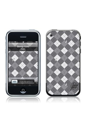 MusicSkins Benny Gold - Argyle - Phone Skins,Accessories for Unisex, LG enV Touch,Black