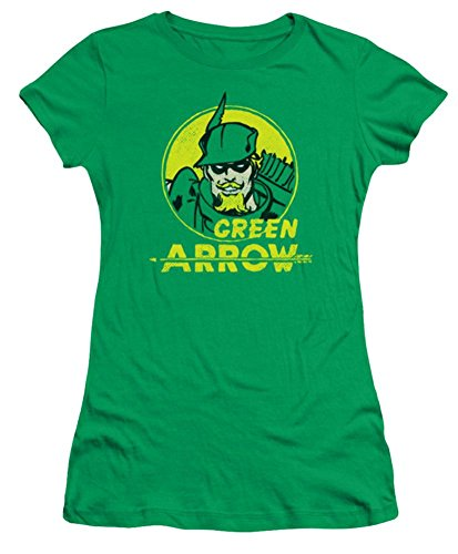 DC Green Arrow Archer Circle Ladies Junior Fit T-Shirt