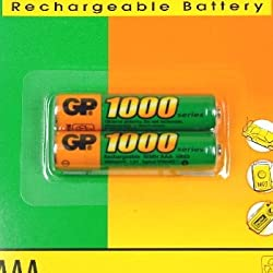 Godrej GP AAA 1000 NiMH Rechargeable Battery (Pack of 2 )