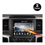 2013-2018 Dodge Ram 1500 2500 3500 Uconnect Touch Screen Car Display Navigation Screen Protector, RUIYA HD Clear Tempered Glass Car in-Dash Screen Protective Film (8.4 Inch X2) (Color: 8.4 Inch X2)