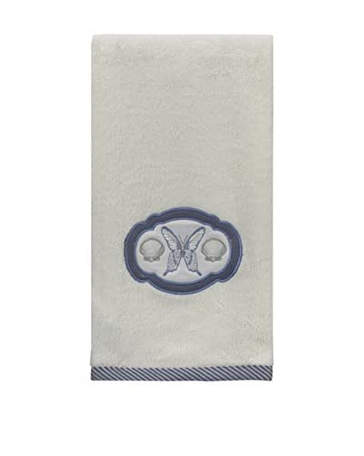 Creative Bath Seaside Hand Towel, Beige/Blue
