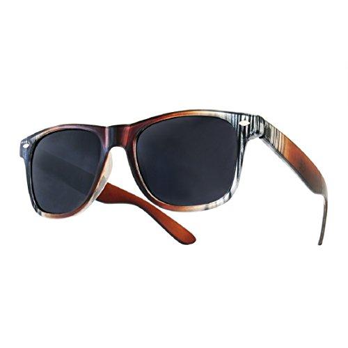 Sonnenbrille Nerdbrille retro Wayfarer Unisex Herren/Damen Sonnenbrille, UV-Schutz 400, Schildpatt Herren Sonnenbrille Spicoli 4 Shades, Tortoise Aussen, One size (16)