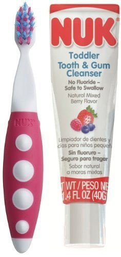 NUK Toddler Tooth and Gum Cleanser, 1.4 Ounce - 2 Pack - 1