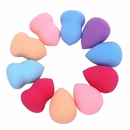 10 pcs Pro Beauty Flawless Makeup Blender Foundation Puff Multi Shape Sponges (Beauty Blender Mini Pack compare prices)
