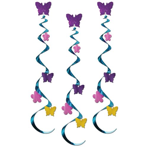 Butterfly & Flower Whirls (3/Pkg)