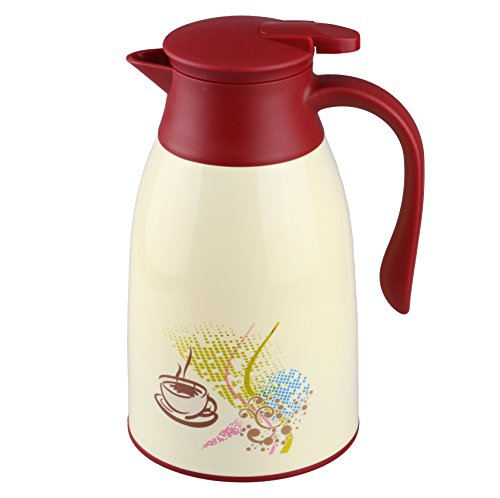 AceChef 45 Oz Glass Lined Thermal Carafe,Insulated Coffee Carafe,Coffee Thermos,Tea Pot with lid ...