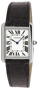 Cartier Men's W5200003 Tank Solo Silver Dial Watch from Cartier