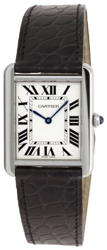 Cartier Men's W5200003 Tank Solo Silver Dial Watch