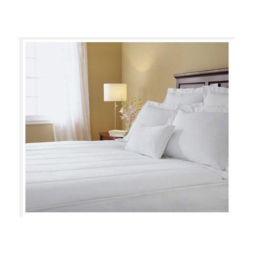Sunbeam Ma7253-030-000 Heated Electric Cotton Blend Mattress Pad, Queen