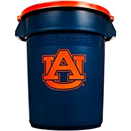 Rubbermaid Commercial Team Brute 32-Gallon Trash Can and Lid, Auburn University