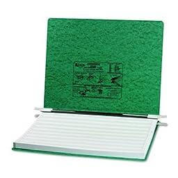 Acco Pressboard Hanging Data Binder, 14-7/8 x 11 Unburst Sheets, Dark Green
