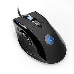 Anker® 8200 DPI レーザープレシジョン・ゲーミングマウス  9つのカスタマイズ可能なボタン マクロ設定可能 調節可能なウェイトカートリッジ 信頼のオムロン製マイクロスイッチ搭載【18ヶ月の保証付き】