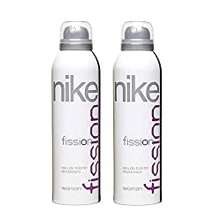 Nike FISSION Women 200ml Deodorant (Made in Spain) - Set of 2