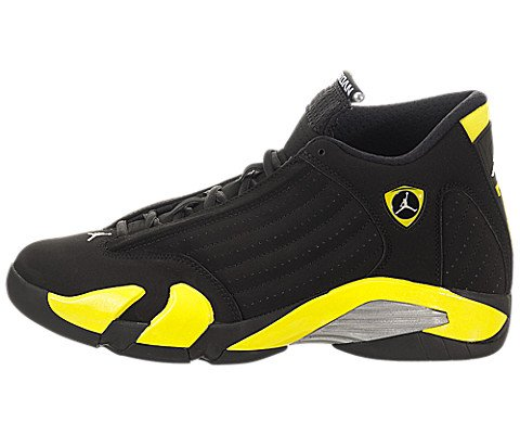 Images for Nike Jordan Men's Air Jordan 14 Retro Black/Vibrant Yellow/White Basketball Shoe 9.5 Men US