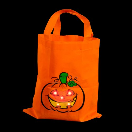 Light-Up Canvas Halloween Trick or Treat Bag - 1