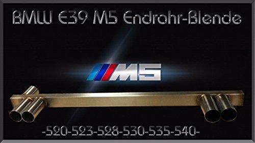 Eckpuff Duplex BMW Endrohr M5 Auspuff Blende