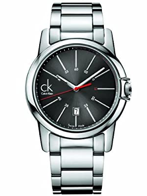 Calvin Klein Quartz Swiss Date Stainless Steel Black Dial Men's Watch K0A21561