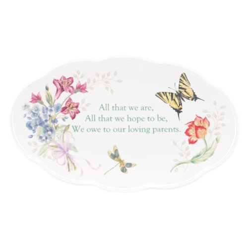 Lenox Butterfly Meadow Bouquet Parent Wedding Plate