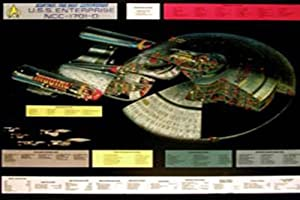 Empire 16454 Star Trek Enterprise, 1701 D Cut Film-Movie-Kino-Poster - 100 x 70 cm