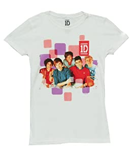 1D Squares Juniors Babydoll Boy Band T-shirt Tee from Global
