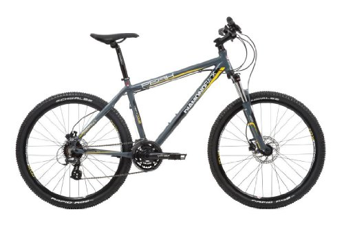 Diamondback Men's Peak Mountain Bike  Black and Yellow, 20 Inch Picture