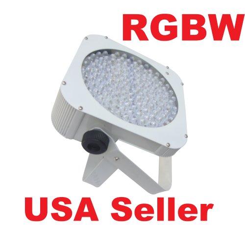 Led Slim Flat Rgbw Par 64 Can Puck Style Dmx Dj Uplighting Light White Housing