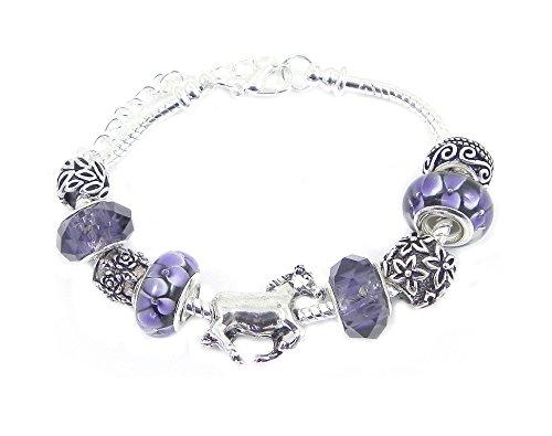 Horse Charm Bracelet Women's Pandora Style Gift