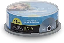 Millenniata BD-R M-DISC Cakebox 25G - (15 unidades, 25 GB)