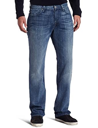 7 For All Mankind Men's Austyn Relaxed Straight Leg Jean in Watercrest, Watercrest, 31