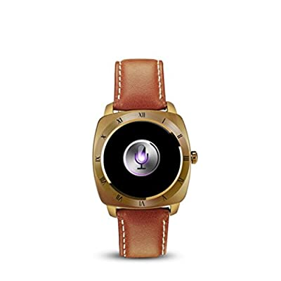 Sinma Smart Watches, 1.22 inch Waterproof Bluetooth SmartWatch Touch Screen Heart Rate Monitor and Pedometer Shake Control Smartwatch Wristwatch for Android and IOS Smart Phone, Gold
