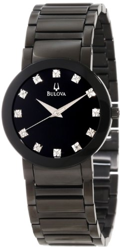 Bulova Men's 98D001 Diamond Accented Stainless Steel Bracelet Watch