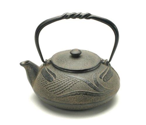 Kotobuki 480-318 Japanese Iron Tetsubin Teapot, Antique Dragonfly, Brown 0