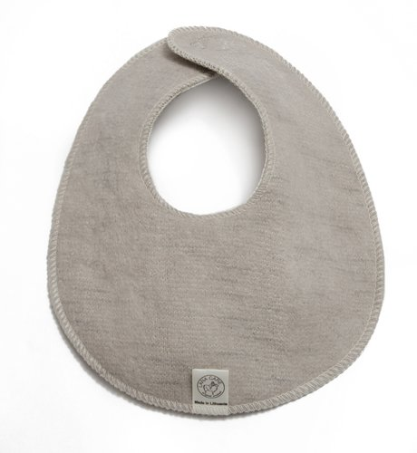 Organic Wool Teething Bib, Soft Sand, 6-12 months