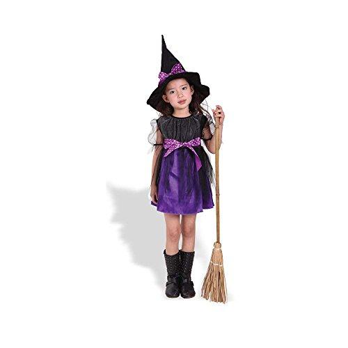 ハロウィン(halloween)魔女 ウィッチコスチューム 仮装衣装グッズ 子供用セット MサイズRuleronline